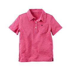 Carter's Tb Knit Top Short Sleeve Polo Shirt - Toddler Boys
