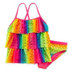 Angel Beach Girls Solid Tankini Set - Big Kid