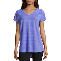 Xersion Short Sleeve V Neck T-Shirt-Petites
