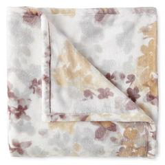 JCPenney Home™ Velvet Plush Print Throw
