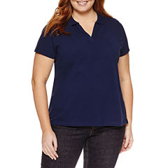 St. John's Bay Short Sleeve Polo-Plus