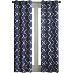 Almaden Printed Fret Grommet-Top Curtain Panels