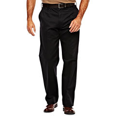 IZOD® Wrinkle–Resistant Flat–Front Twill Pants–Big & Tall