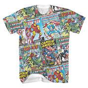 Marvel Comic Covers Short-Sleeve Tee