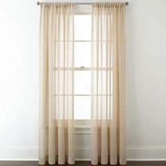 JCPenney Home™ Bayview Sheer Rod-Pocket Curtain Panel