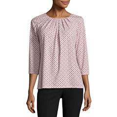 Worthington Pleat Neck Top