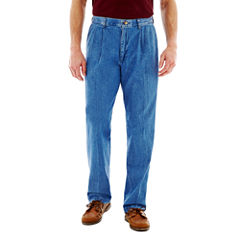 Lee® Stain Resist Pleated Denim Pants