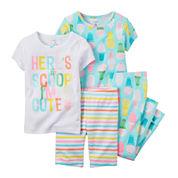 Carter's® 4-pc. Ice Cream Pajama Set - Toddler Girls 2t-5t