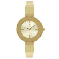 Worthington Womens Gold Tone Bangle Watch-Wt00016-02