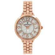 Worthington Womens Rose Goldtone Bracelet Watch-Wt00011-03