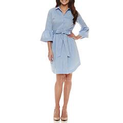 Worthington 3/4 Bell Sleeve Shirt Dress