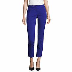Worthington Curvy Fit Slim Pants-Talls