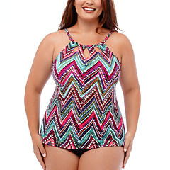 Jamaica Bay® Downtown Vibe Tankini Swim Top or Adjustable Side Swim Bottoms