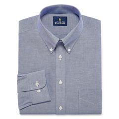 Stafford Travel Wrinkle-Free Oxford - Big & Tall Long Sleeve Dress Shirt