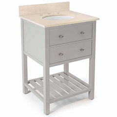25 in Harrison Bath Vanity Base with Galala Marble Top