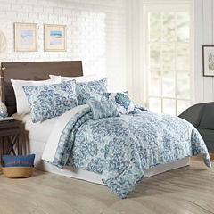 Mary Jane's Home Watercolor Medalion 5-pc. Comforter Set