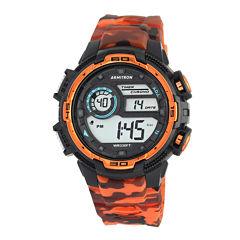 Armitron® Men's Orange Camo Digital Strap Watch