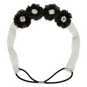 Carole Black and White Lace Flower Headband