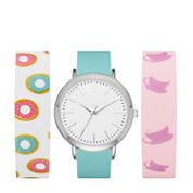 Mixit Womens Multicolor Strap Watch-Fmdjps097