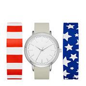 Mixit Womens Multicolor Strap Watch-Fmdjps100