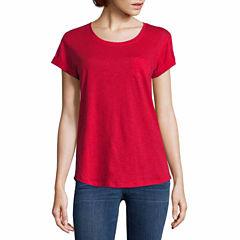 a.n.a Short Sleeve Scoop Neck T-Shirt-Womens Talls