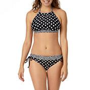 a.n.a® Mix & Match Polka-Dot High-Neck Swim Top or Polka-Dot Keyhole Hipster Swim Bottoms