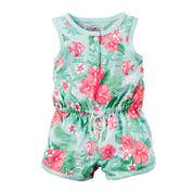 Carter's® Sleeveless Tropical Floral Print Romper - Baby Girl newborn-24m
