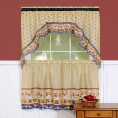blackout kitchen curtain sets curtains & drapes for window - jcpenney