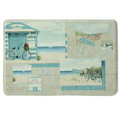 Bacova Beach Cruiser Memory Foam Bath Rug