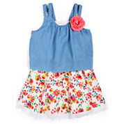 Girls Rule Short Sleeve A-Line Dress - Baby Girls