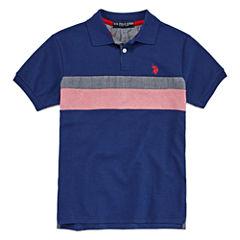 U.S. Polo Assn. Short Sleeve Solid Pique Polo Shirt - Big Kid Boys