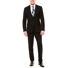 Men's Van Heusen Flex Black Slim-Fit Suit Separates