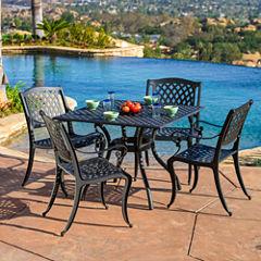 Fairview 5-pc. Outdoor Cast Aluminum Dining Set