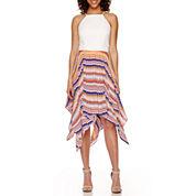 Bisou Bisou® Halter Asymmetrical Hem Dress