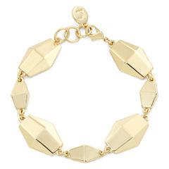 Liz Claiborne® Gold-Tone Faceted Flex Bracelet