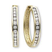 ⅓ CT. T.W. Diamond Hoop Earrings