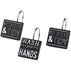 Avanti Chalk It Up Shower Curtain Hooks