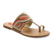UNIONBAY® Jeweled Flat Sandals