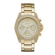 Relic® Womens Crystal Gold-Tone Bracelet Watch