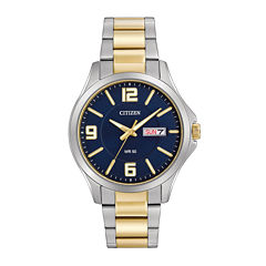 Citizen® Mens Two-Tone Stainless Steel Blue Dial Bracelet Watch BF2004-57L