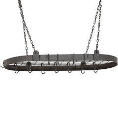 Old Dutch International® Graphite Oval Pot Rack + 12 Hooks