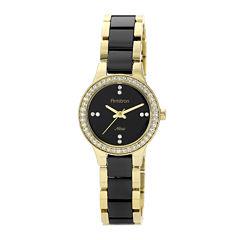 Armitron® Now® Womens Crystal-Accent Ceramic Link Bracelet Watch