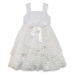 Marmellata Shadow Stripe Flower Girl Dress - Girls' 7-16 and Plus