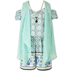 Speechless Romper and  Vest - Big Kid