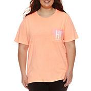 Flirtitude Hawaii Graphic T-Shirt- Juniors Plus