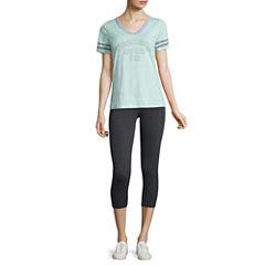 Graphic T-Shirt or Flirtitude Yoga Crop Pant