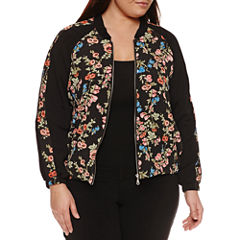 Alyx Long Sleeve Floral Bomber Jacket-Plus