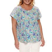 Alfred Dunner Short Sleeve Crew Neck T-Shirt-Plus
