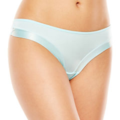 Ambrielle® Sparkle Trimmed Thong