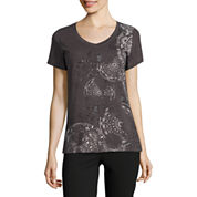 Made For Life Short Sleeve V Neck T-Shirt-Petites